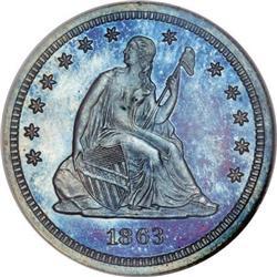 1863 25C Quarter Dollar, Judd-336, Pollock-408,