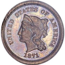 1871 5C Five Cents, Judd-1054, Pollock-1189,