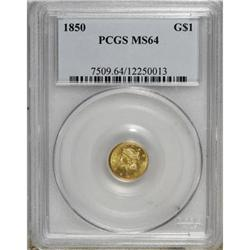 1850 G$1 MS64 PCGS