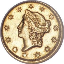 1851-D G$1 MS62 NGC