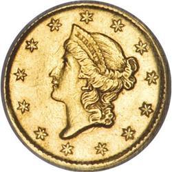 1852-D G$1 AU58 NGC