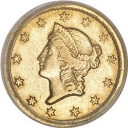 1853-C G$1 AU53 PCGS