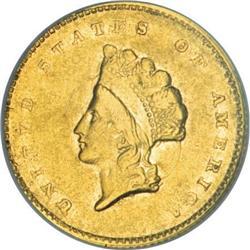 1855-C G$1 AU50 NGC