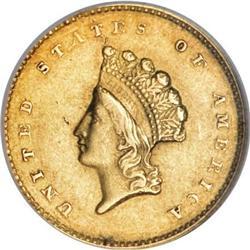 1855-O G$1 AU55 NGC