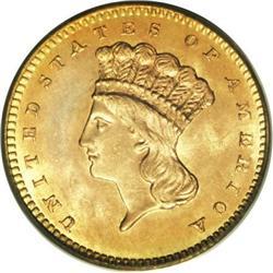 1861 G$1 MS67 PCGS