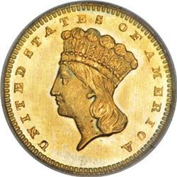 1865 G$1 MS68 PCGS. CAC