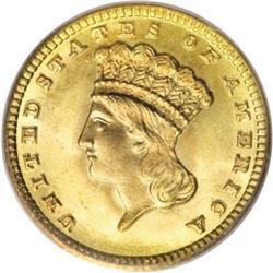 1881 G$1 MS67 PCGS
