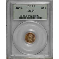 1885 G$1 MS64 PCGS