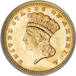 1887 G$1 MS66 NGC