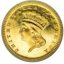 1886 G$1 PR65 Cameo NGC
