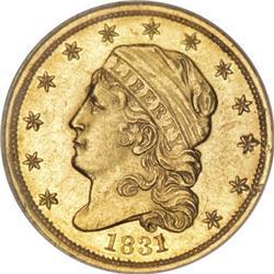 1831 $2 1/2 MS62 NGC