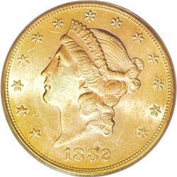 1882-S $20 MS62 PCGS