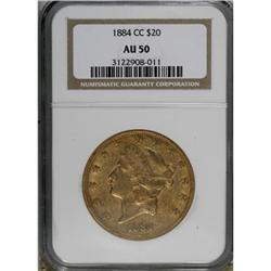 1884-CC $20 AU50 NGC