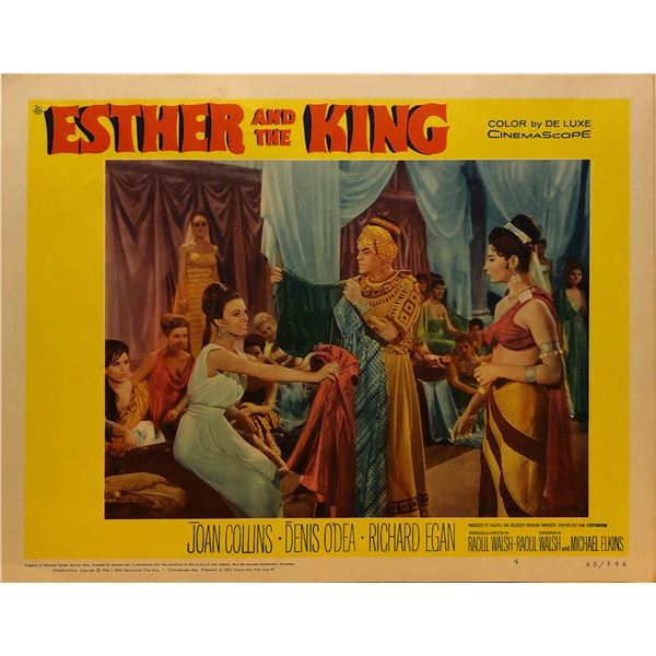 Esther and the King 1960 original vintage lobby card