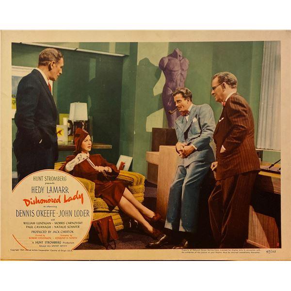 Dishonored Lady 1947 original vintage lobby card