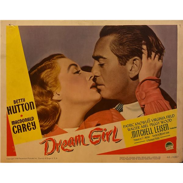 Dream Girl 1948 original vintage lobby card