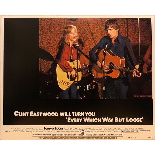 Every Which Way But Loose 1978 original vintage lobby card
