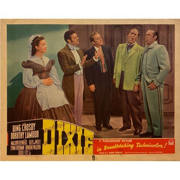 Dixie 1943 original vintage lobby card