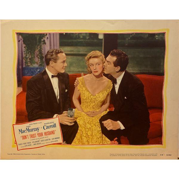 Don't Trust Your Husband 1948 original vintage lobby card