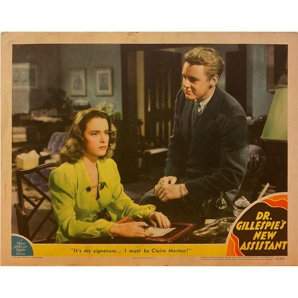 Dr. Gillespie's New Assistant 1942 original vintage lobby card