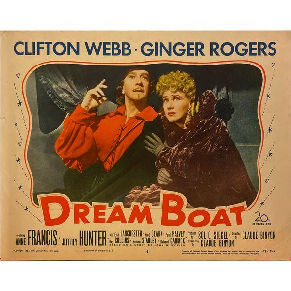 Dreamboat 1952 original vintage lobby card
