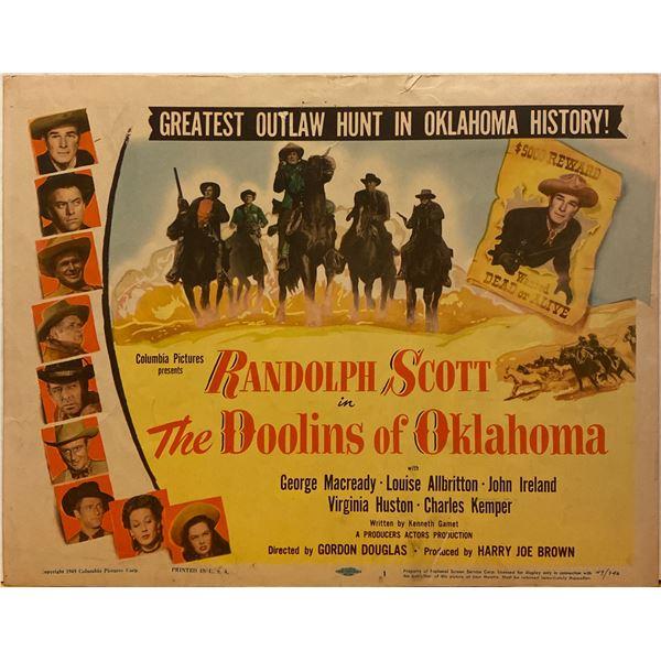 The Doolins of Oklahoma 1949 original vintage lobby card