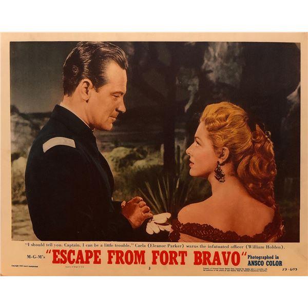 Escape from Fort Bravo 1953 original vintage lobby card