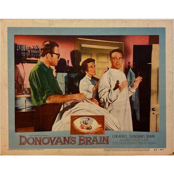 Donovan's Brain 1953 original vintage lobby card
