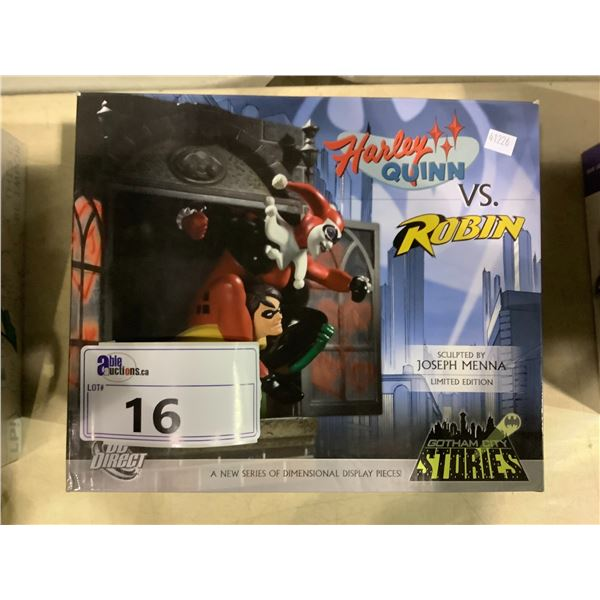 GOTHAM CITY STORIES HARLEY QUINN VS ROBIN LIMITED EDITION COLLECTIBLE FIGURE 0311/2000