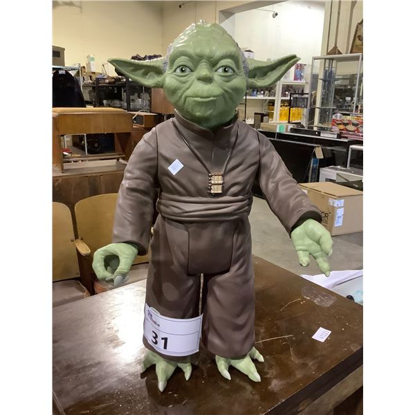 COLLECTIBLE YODA FIGURE (MINOR DAMAGE TO LEFT EAR)