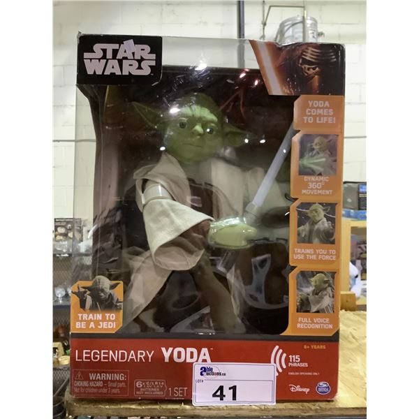 NEW IN PACKAGING STAR WARS LEGENDARY YODA WITH 115 PHRASES
