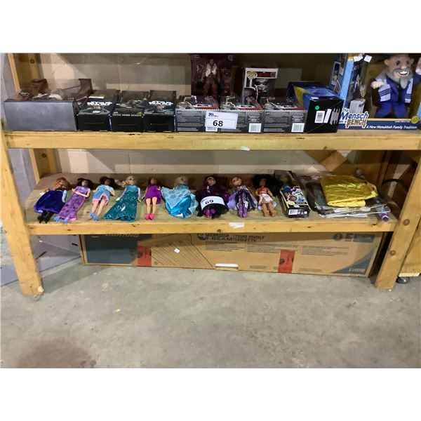 ASSORTED DOLLS AND MORE