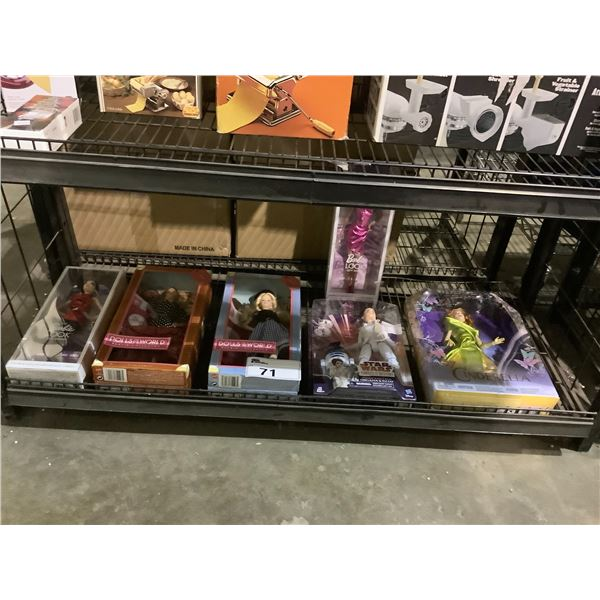 ASSORTED NEW IN PACKAGING TOYS INCLUDING: BARBIE, STAR WARS, & CINDERELLA