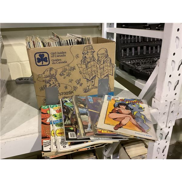 BOX OF ASSORTED COMICS INCLUDING: EX MUTANTS, SPEEDBALL, SPIDER-MAN, & MUCH MORE