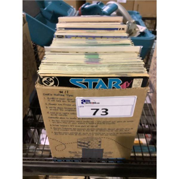 BOX OF ASSORTED COMICS INCLUDING: STAR TREK, STAR MAN, STRANGE TALES, & MORE