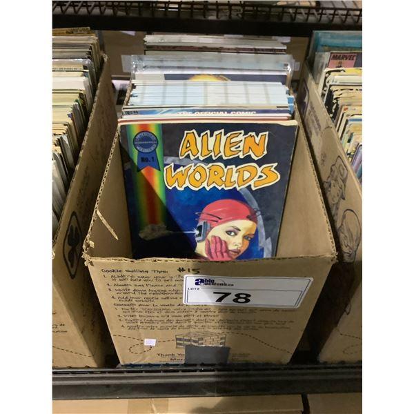 BOX OF ASSORTED COMICS INCLUDING: BLACKHAWK, MISS FURY, MARTIAN MANHUNTER, & MUCH MORE