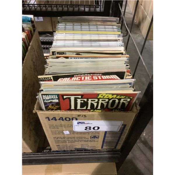 BOX OF ASSORTED COMICS INCLUDING: TERROR INC., THOR, TESTAMENT, TIME BANDITS, & MUCH MORE