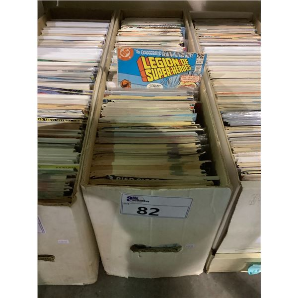BOX OF ASSORTED COMICS INCLUDING: X-MEN, SUPERMAN, LEGION OF SUPER HEROES, & MUCH MORE