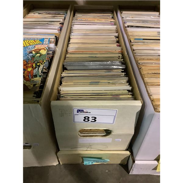 BOX OF ASSORTED COMICS INCLUDING: NIGHT STALKERS, FANTASTIC FOUR, POSSIBLE MAN, & MUCH MORE