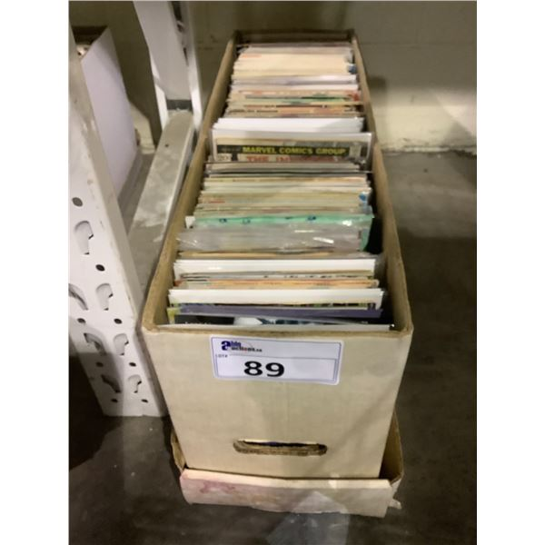 BOX OF ASSORTED COMICS INCLUDING: INFINITY, HELL BLAZER, WOLVERINE, & MUCH MORE