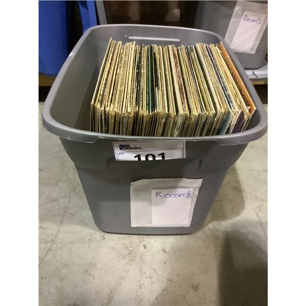 ASSORTED VINYL RECORDS INCLUDING: JAMES LAST, ELVIS, RAY CONIFF, & MUCH MORE