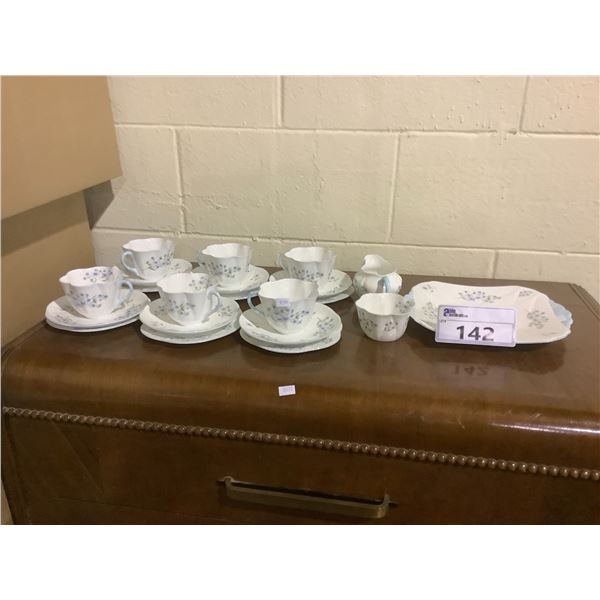 ASSORTED SHELLEY BLUE ROCK FINE CHINA