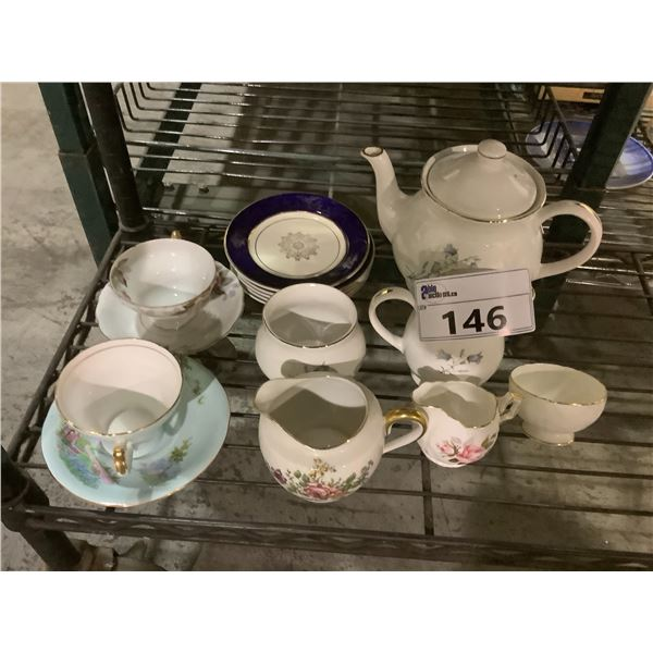 ASSORTED CHINA INCLUDING; AYNSLEY, SADLER, VICTORIA AND MORE