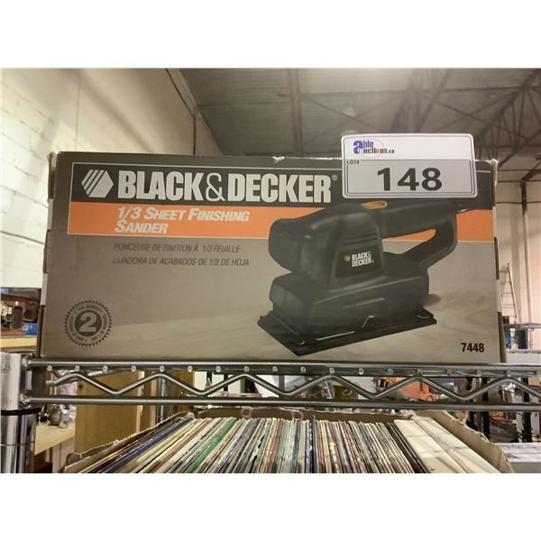 BLACK AND DECKER 1/3 SHEET FINISHING SANDER