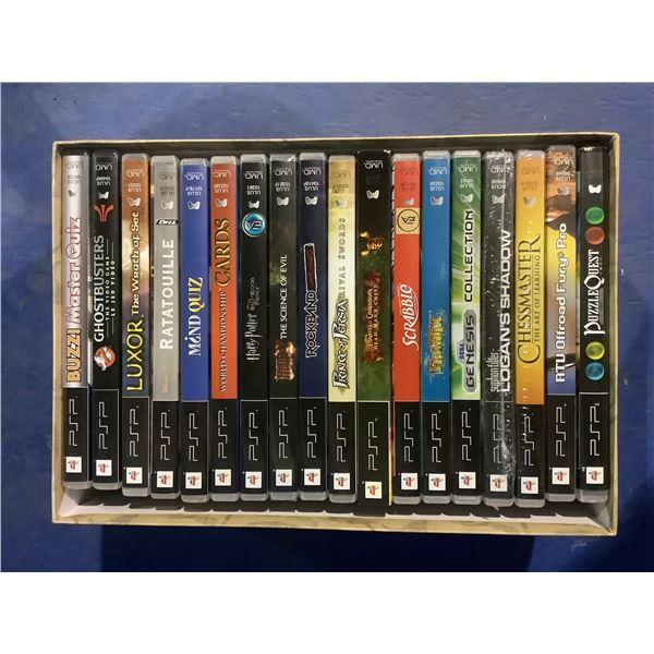 LARGE QUANTITY OF PSP GAMES