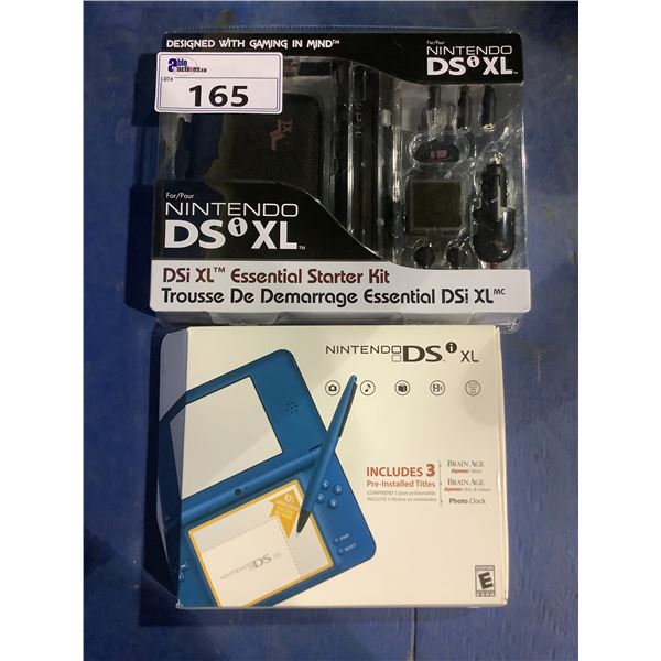 NEW IN BOX NINTENDO DSI XL WITH NEW IN PACKAGING ESSENTIAL STARTED KIT