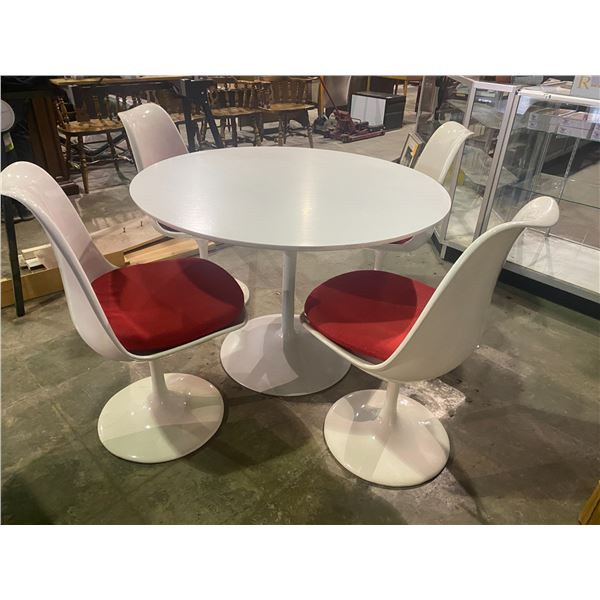 SAARINEN TULIP TABLE AND FOUR CHAIRS MID-CENTURY MODERN