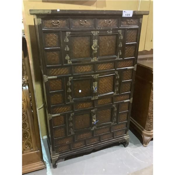 """ANTIQUE CHINESE CABINET APPROX 41.5"""" X 18"""" X 63.5"""""""