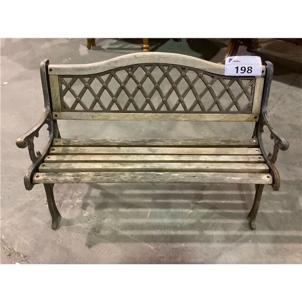 SMALL BENCH, CAR GARDEN DECOR, & DISPLAY CASE IN NEED OF REPAIRS