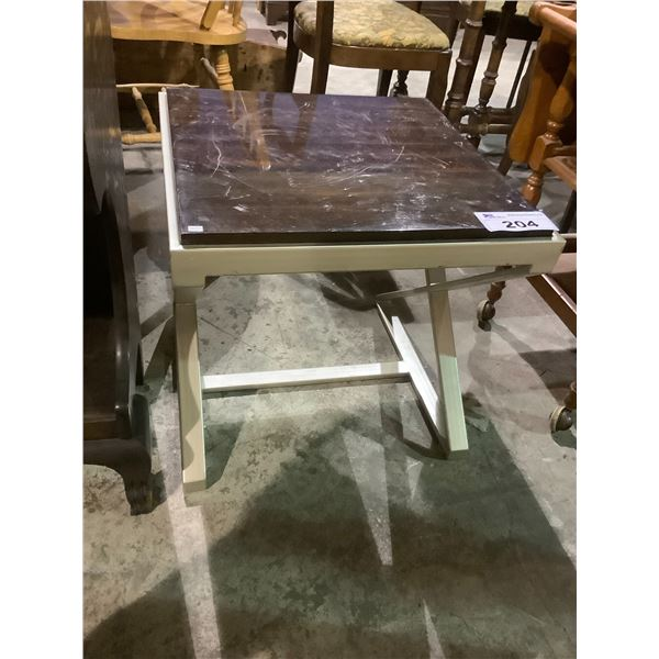 """END TABLE VISIBLE DAMAGE 20 X 20 X 19.5"""""""